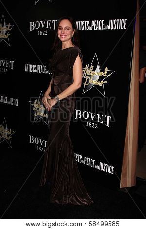 Madeleine Stowe at the 6th Annual Hollywood Domino Pre-Oscar Gala & Tournament, Sunset Tower, West Hollywood, C A 02-21-13