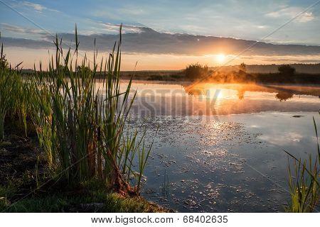 Sunrise On A Lake