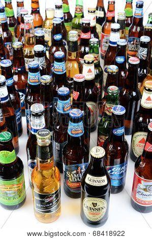 Large Group Of Beer Bottles