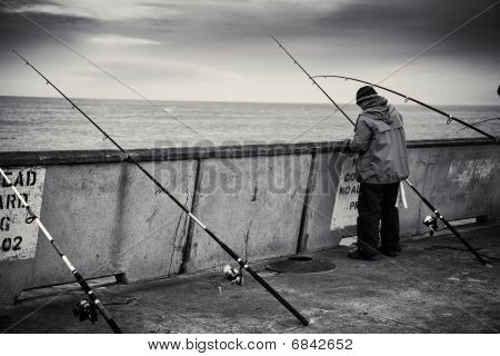 Fishing from the Pacifica Pier
