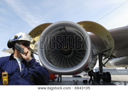 mechanic and jet-engine