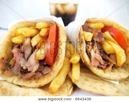 Greek Gyros or kebab