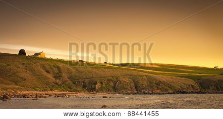 House on a hill in coastal South Australia