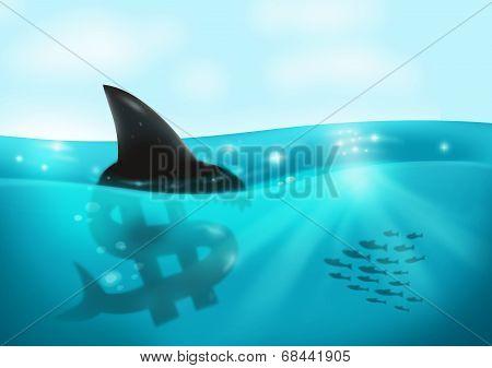 Loan Shark and Debt concept