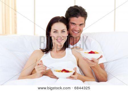 Enamoured Couple Having Breakfast