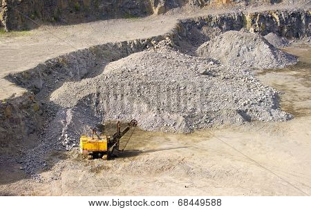 Machine At The Quarry For The Extraction Of Granite