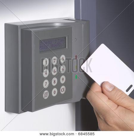 Security card entrance