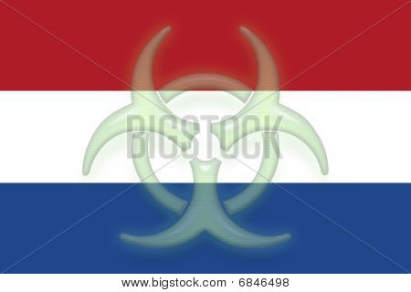 Flag Of Netherlands Health Warning
