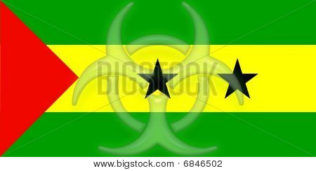 Flag Of Sao Tome And Principe Health Warning