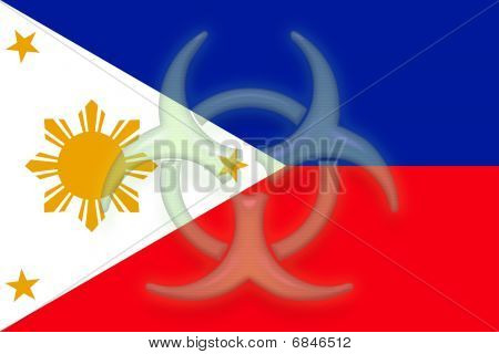 Flag Of Philippines Health Warning