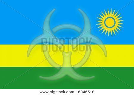Flag Of Rwanda Health Warning