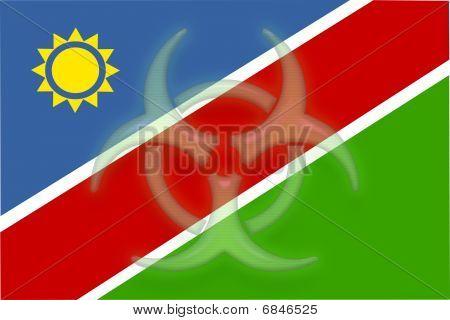 Flag Of Namibia Health Warning