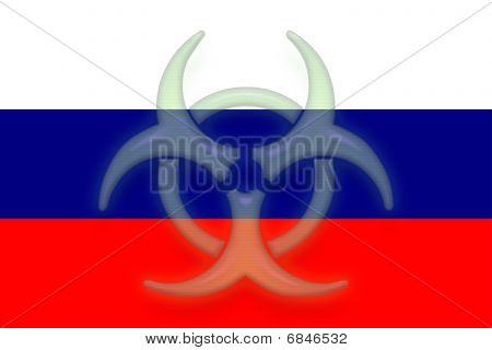 Flag Of Russia Health Warning