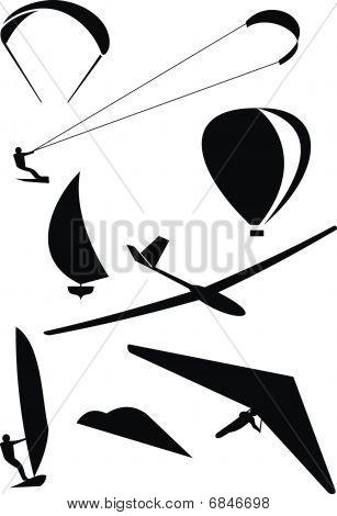 Extreme Sport Symbols Set