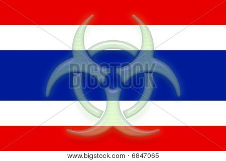 Flag Of Thailand Health Warning