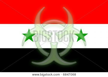 Flag Of Syria Health Warning