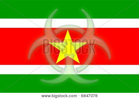 Flag Of Suriname Health Warning