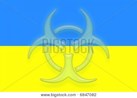 Flag Of Ukraine Health Warning