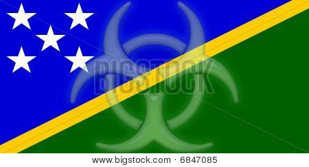 Flag Of Solomon Islands Health Warning