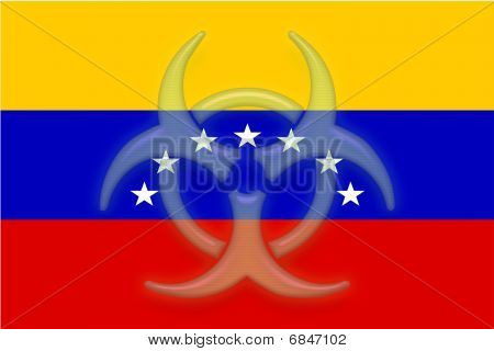 Flag Of Venezuela Health Warning