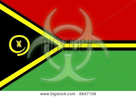 Flag Of Vanuatu Health Warning