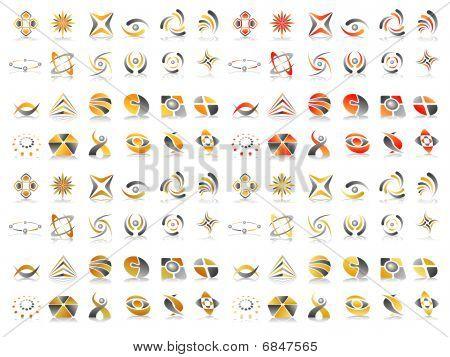Vector Abstract Icon Design Set