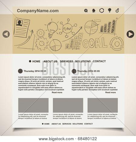 Website template creative idea design, vector