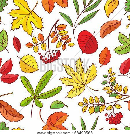 Seamless With Leaves