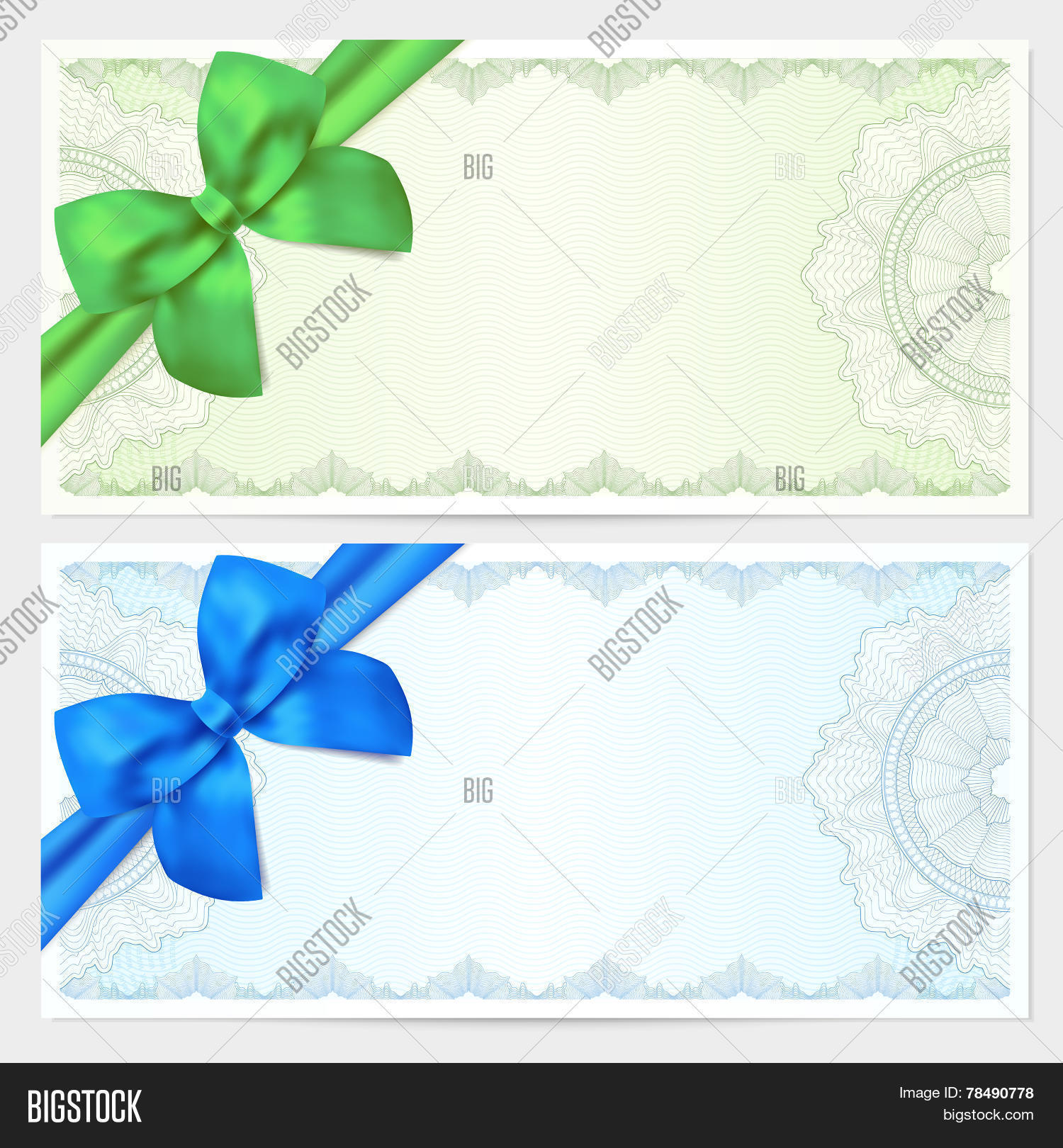 Gift Certificate Vector Photo Free Trial Bigstock