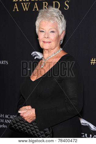 LOS ANGELES - OCT 30:  Dame Judi Dench arrives to the BAFTA Jaguar Brittannia Awards 2014 on October 30, 2014 in Beverly Hills, CA