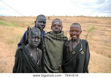 Masai Group Children