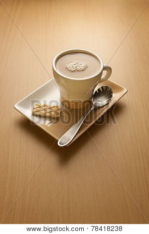 Capuccino And A Wafer