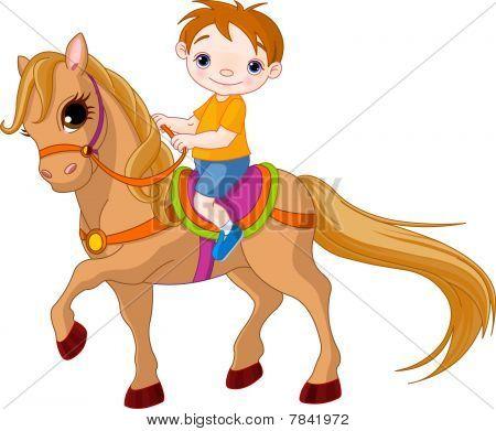 Garçon sur un cheval