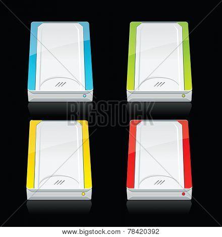 Set of external hard drives