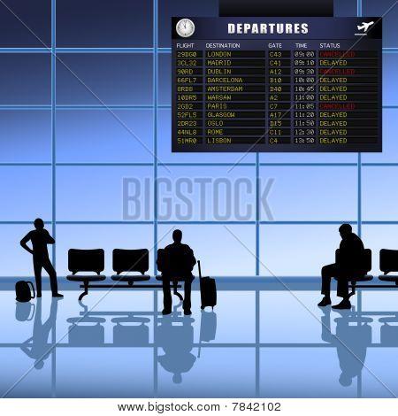 Airport -  Passengers Waiting
