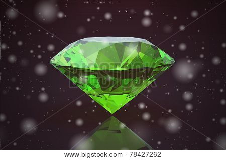 Peridot Gem .on Black Background (high Resolution 3D Image)