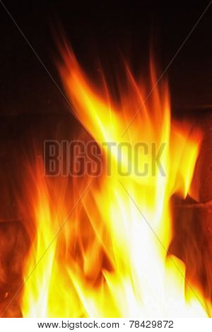 Photo of Flames on fireplace