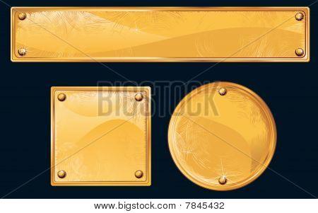 Golden Metall Plates
