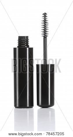 Black mascara with eyelash brush