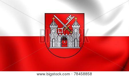 3D Flag of Tartu, Estonia. Close Up. poster