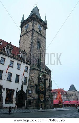 Staromestske Square In The City Of Prague For Christmas