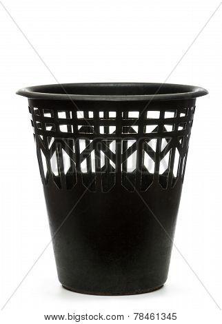 Black Wastebasket