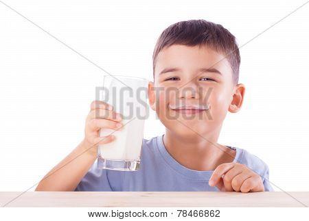 Boy With Milk Mustache