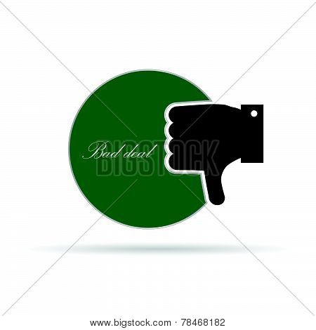 Bad Deal With Hand Color Vector