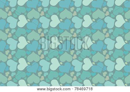 Endless blue romantic simple pattern.