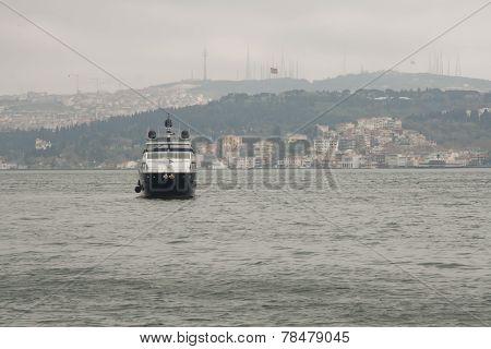 Bosphorus in the rainy day