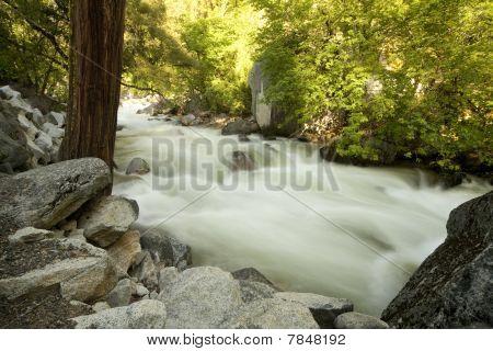 Yosemite Merced River Misty Water