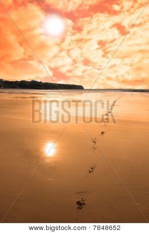 Ballybunion Scenic Red Sunrise
