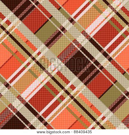 Diagonal Tartan Seamless Texture Mainly In Brown Hues