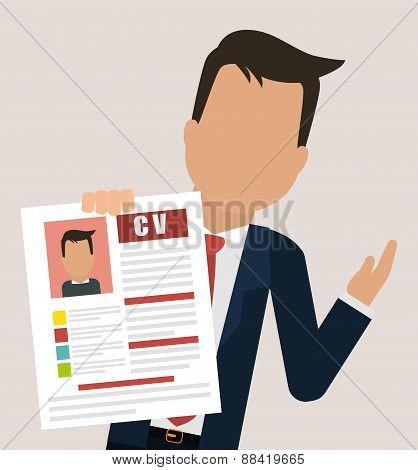Human resources design over beige background, vector illustration. poster